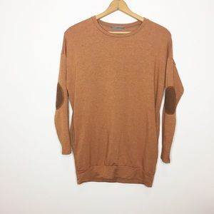 CHERISH burnt orange tunic sweatshirt size small